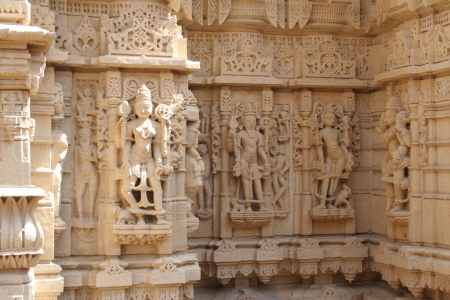 Erotic sculptures in golden fort temple, jaisalmer-rajasthan photo
