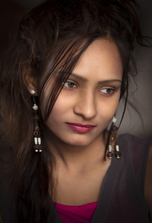 Beautiful exotic young Girl of india photo