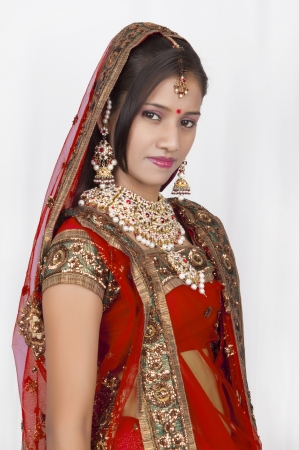 Muchacha india en Casual nupcial photo