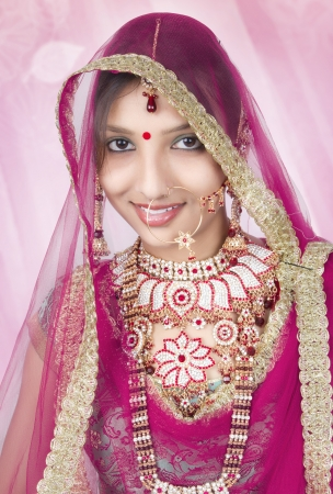 A beautyful Indian girl in bride casual photo
