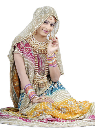 Indian Girl in Bridal Casual photo
