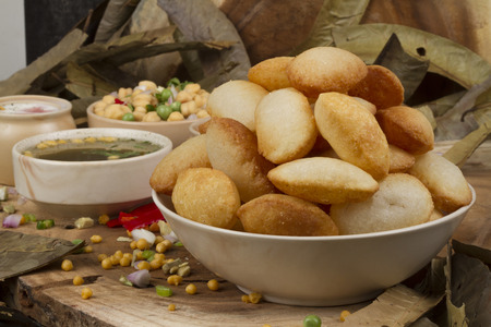 Spicy Gol Gappa indian street food photo