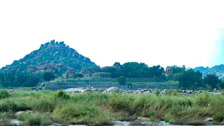 karnataka: Hampi  Hospet - Karnataka  Trees - Mountain - Sky