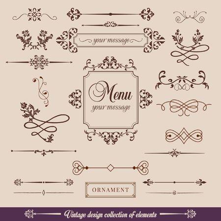 Vintage Design Elements Иллюстрация