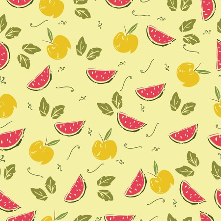 sketchy: ute seamless pattern of hand drawn sketchy fresh fruits.
