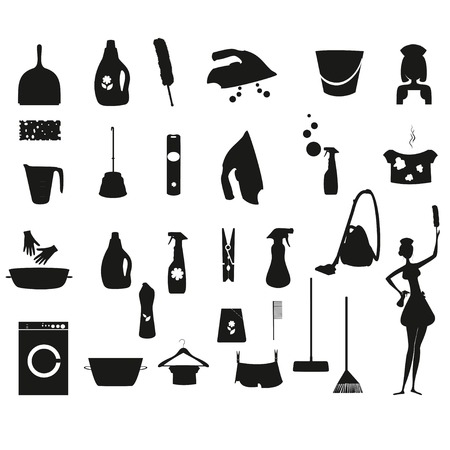 dry cleaner: Laundry icon Illustration