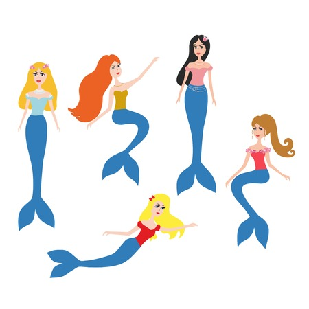 artoon: Mermaids vector set