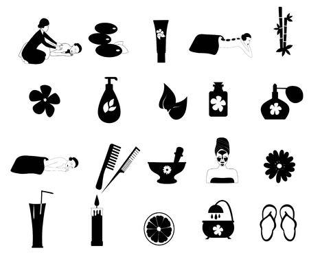 massage symbol: Spa icons vector set.