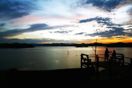 natureal: Dopo il tramonto nel lago Archivio Fotografico