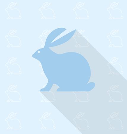 rabbit hole: rabbit in background pattern Illustration