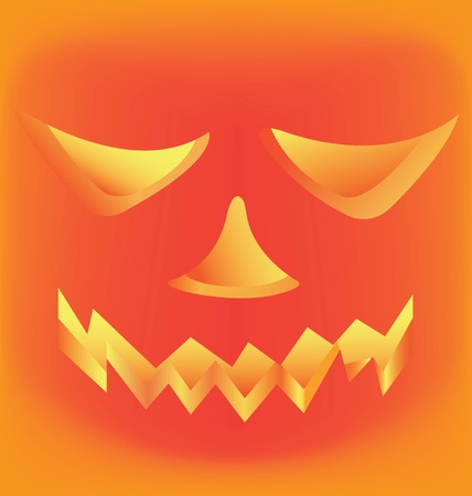 appalled: vector Halloween Pumpkin