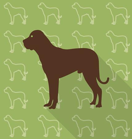 ailment: Dog vector