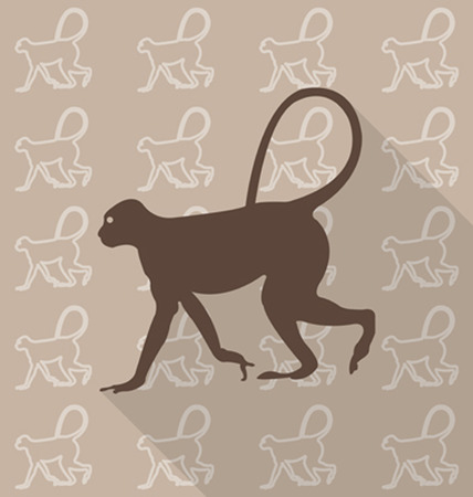 swiftly: Monkey vector Illustration