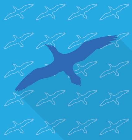 egret: egret vector in background pattern
