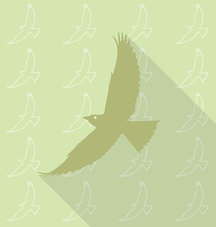 oiseau mouche: vol�e d'oiseaux dans le motif de fond