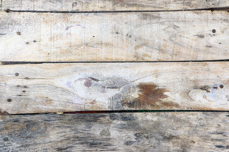 Old wooden planks pale arranged horizontally. photo