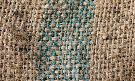 burlap sac: Look closely at the fabric of the bag.