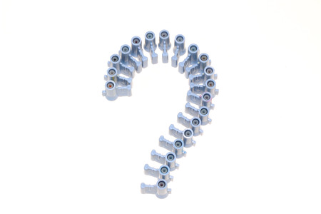 interrogation point: Question marks ranged from Cork colors look beautiful. Stock Photo
