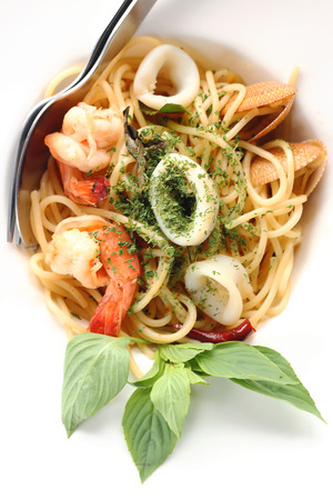 hectic: spagetti spicy seafood