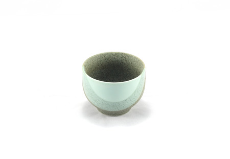 lacquer ware: Ceramic shape and rounded surfaces that invite touch. Stock Photo