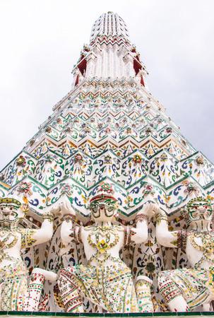profess: Hanuman pagoda base pattern in wat arun.