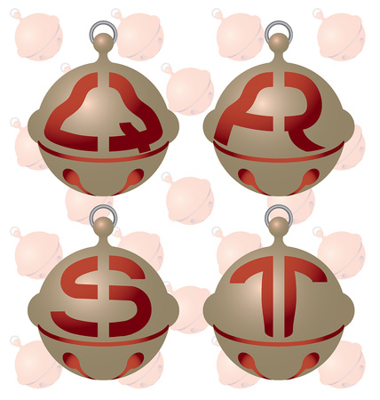 jolt: English alphabet on a beautiful bell.
