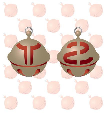 shudder: English alphabet on a beautiful bell.