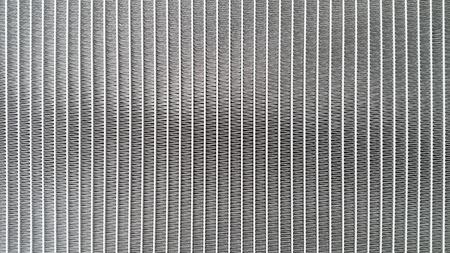 close up the car radiator.