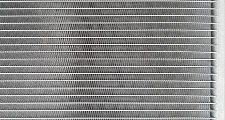 radiador: cerca del radiador del coche. Foto de archivo