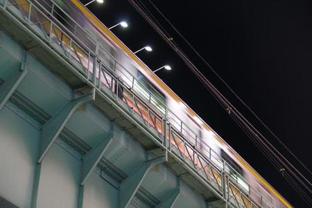 Tokyo JR metro travels by night