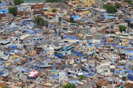 shantytown: Aerial photo of Jodhpur city in India Stock Photo