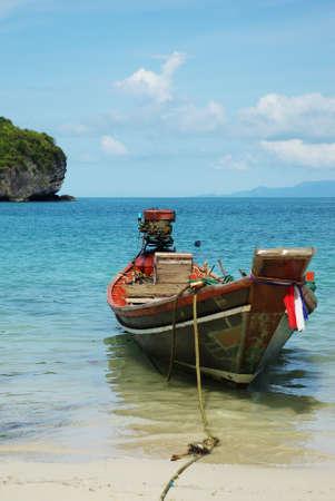 koh samui: Boat At Koh Samui, Thailand Stock Photo