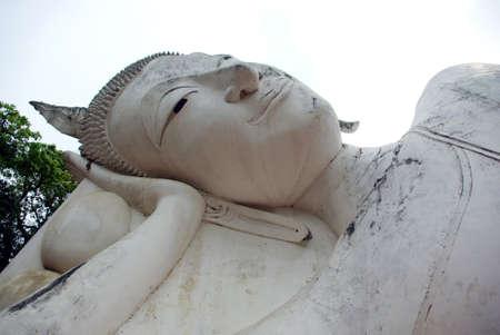 angthong: Reclining Buddha, Wat Khuninthapramul, Angthong, Thailand Stock Photo