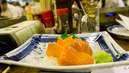 wasabi: Japanese salmon fillet with wasabi