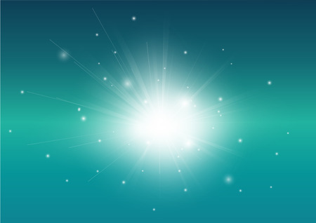Blue Turquoise and glowing light ray background