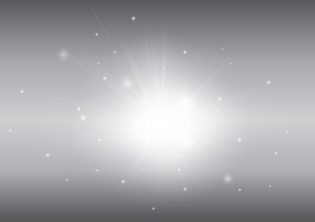 ray of light: Grey abstract background with glowing light ray beam