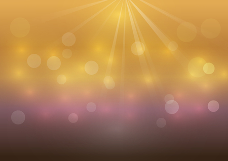 light brown: Brown bokeh glowing light abstract vector background Illustration