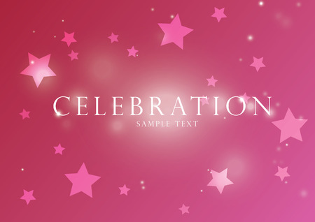 celebration background: Celebration pink vectors background; with stars and glowing light