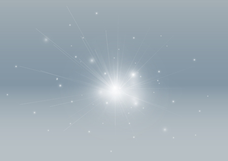 light ray: Silver glowing light ray beam abstract background Illustration