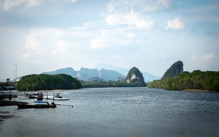 krabi: THE RIVERSIDE PARALLEL MOUNTAINS , KRABI , Thailand