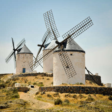 traditional windmill: Windmills of Consuegra, Castile-La Mancha, Spain Stock Photo