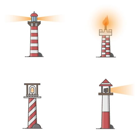 Illustration graphic design of lighthouse icon.
