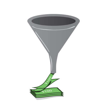 A sales funnel Stock Vector - 9568073