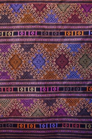 thai silk: Woven fabrics Stock Photo
