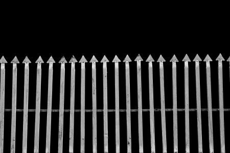 metal bars with black background  Stock Photo