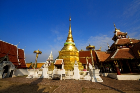 Wat Pong Sanuk in lampang photo