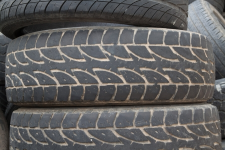 tire tread: old tire tread as background