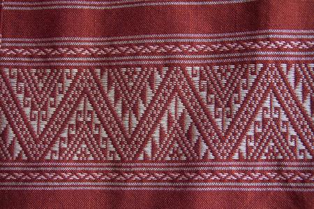 trabajo manual: tradici�n tela trabajo hecho a mano de la tribu de la colina en el norte de Tailandia