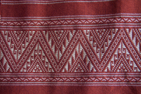 handwork: tradition handwork fabric of hill tribe at northern of Thailand
