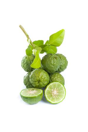 Bergamot fruit on white background. photo